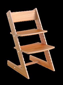 Детский растущий стул из бука Премиум Конёк Горбунёк (Светлый бук) - фото 32898