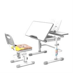 Комплект растущая парта и стул с чехлом RIFFORMA-07  (серый) - фото 33007