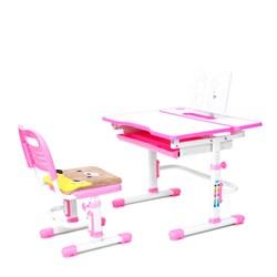 Комплект растущая парта и стул с чехлом RIFFORMA-07 (розовый) - фото 33011