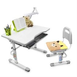 Комплект растущая парта и стул с чехлом Rifforma SET-10 (Серый) - фото 33019