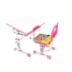 Комплект растущая парта и стул с чехлом Rifforma SET-10 (Розовый) - фото 33028
