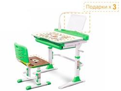Комплект парта и стульчик Mealux EVO-19 (с лампой) (Зеленый, Белый) - фото 34371
