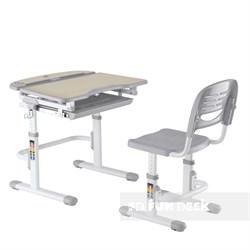 Комплект парта и стул для малышей FunDesk Sorriso (Серый) - фото 34855