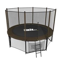 Батут UNIX line 8 ft Black&Brown (outside) (244 см) (Коричневый) - фото 37378