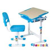 Растущая парта и стул FunDesk Piccolino (Голубой)