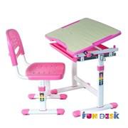 Растущая парта и стул FunDesk Piccolino (Розовый)