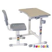 Парта для малышей и стул FunDesk Piccolino II (Серый)