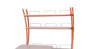 Надстройка Астек на парты ТВИН/ТВИН-2 и МОНО/МОНО-2 (Цвет каркаса:Оранжевый, Цвет товара:Береза)