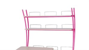 Надстройка Астек на парты ТВИН/ТВИН-2 и МОНО/МОНО-2 (Цвет каркаса:Розовый, Цвет товара:Береза)