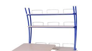 Надстройка Астек на парты ТВИН/ТВИН-2 и МОНО/МОНО-2 (Цвет каркаса:Синий, Цвет товара:Береза)