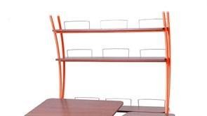 Надстройка Астек на парты ТВИН/ТВИН-2 и МОНО/МОНО-2 (Цвет каркаса:Оранжевый, Цвет товара:Яблоня)
