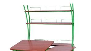 Надстройка Астек на парты ТВИН/ТВИН-2 и МОНО/МОНО-2 (Цвет каркаса:Зеленый, Цвет товара:Яблоня)