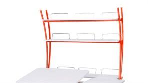 Надстройка Астек на парты ТВИН/ТВИН-2 и МОНО/МОНО-2 (Цвет каркаса:Оранжевый, Цвет товара:Белый)