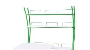 Надстройка Астек на парты ТВИН/ТВИН-2 и МОНО/МОНО-2 (Цвет каркаса:Зеленый, Цвет товара:Белый)