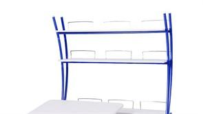 Надстройка Астек на парты ТВИН/ТВИН-2 и МОНО/МОНО-2 (Цвет каркаса:Синий, Цвет товара:Белый)