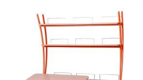 Надстройка Астек на парты ТВИН/ТВИН-2 и МОНО/МОНО-2 (Цвет каркаса:Оранжевый, Цвет товара:Бук)