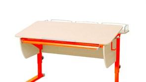 Приставка фронтальная Астек для парт ТВИН/ТВИН-2 и МОНО/МОНО-2 (Цвет каркаса:Оранжевый, Цвет товара:Береза)