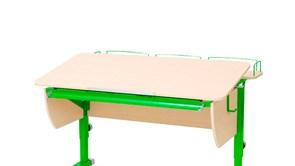Приставка фронтальная Астек для парт ТВИН/ТВИН-2 и МОНО/МОНО-2 (Цвет каркаса:Зеленый, Цвет товара:Береза)