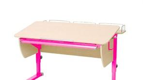Приставка фронтальная Астек для парт ТВИН/ТВИН-2 и МОНО/МОНО-2 (Цвет каркаса:Розовый, Цвет товара:Береза)