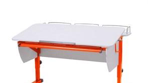 Приставка фронтальная Астек для парт ТВИН/ТВИН-2 и МОНО/МОНО-2 (Цвет каркаса:Оранжевый, Цвет товара:Белый)