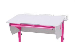 Приставка фронтальная Астек для парт ТВИН/ТВИН-2 и МОНО/МОНО-2 (Цвет каркаса:Розовый, Цвет товара:Белый)
