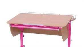 Приставка фронтальная Астек для парт ТВИН/ТВИН-2 и МОНО/МОНО-2 (Цвет каркаса:Розовый, Цвет товара:Бук)