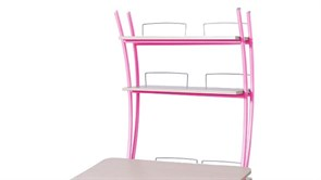 Надстройка Астек на парту КОЛИБРИ и ЮНИОР (Цвет каркаса:Розовый, Цвет товара:Береза)