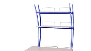 Надстройка Астек на парту КОЛИБРИ и ЮНИОР (Цвет каркаса:Синий, Цвет товара:Береза)