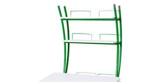 Надстройка Астек на парту КОЛИБРИ и ЮНИОР (Цвет каркаса:Зеленый, Цвет товара:Белый)