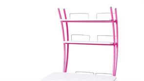 Надстройка Астек на парту КОЛИБРИ и ЮНИОР (Цвет каркаса:Розовый, Цвет товара:Белый)