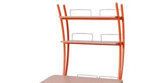 Надстройка Астек на парту КОЛИБРИ и ЮНИОР (Цвет каркаса:Оранжевый, Цвет товара:Бук)