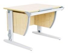 Парта школьная ДЭМИ СУТ-14 75х55 см (Цвет столешницы:Клен, Цвет ножек стола:Серый)