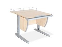 Парта ДЭМИ СУТ-14-01 75х55 см + задняя приставка (Цвет столешницы:Клен, Цвет ножек стола:Серый)