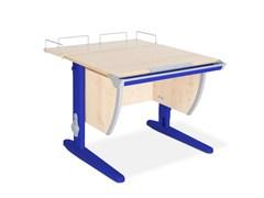 Парта ДЭМИ СУТ-14-01 75х55 см + задняя приставка (Цвет столешницы:Клен, Цвет ножек стола:Синий)