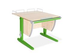 Парта ДЭМИ СУТ-14-01 75х55 см + задняя приставка (Цвет столешницы:Клен, Цвет ножек стола:Зеленый)