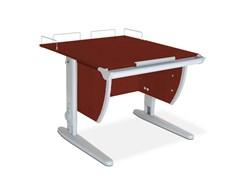 Парта ДЭМИ СУТ-14-01 75х55 см + задняя приставка (Цвет столешницы:Яблоня, Цвет ножек стола:Серый)