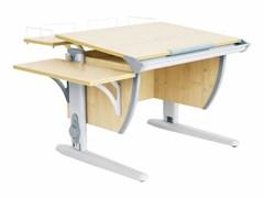 Парта ДЭМИ СУТ-14-02 75х55 см + задняя и боковая приставки (Цвет столешницы:Клен, Цвет ножек стола:Серый)