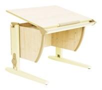 Парта ДЭМИ СУТ-14-02 75х55 см + задняя и боковая приставки (Цвет столешницы:Клен, Цвет ножек стола:Бежевый)