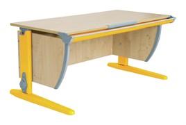 Парта ДЭМИ СУТ-15-02 120х55 см + 2 задние и боковая приставки (Цвет столешницы:Клен, Цвет ножек стола:Оранжевый)