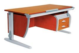 Парта ДЭМИ СУТ-15-03 120х55 см + подвесная тумба (Цвет столешницы:Яблоня, Цвет ножек стола:Серый)