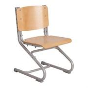Растущий стул ДЭМИ ДЕРЕВО СУТ.02-01 (регулируется в 3-х плоскостях) (Цвет сиденья и спинки стула:Клен, Цвет каркаса:Серый)