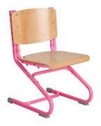 Растущий стул ДЭМИ ДЕРЕВО СУТ.02-01 (регулируется в 3-х плоскостях) (Цвет сиденья и спинки стула:Клен, Цвет каркаса:Розовый)