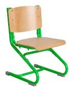Растущий стул ДЭМИ ДЕРЕВО СУТ.02-01 (регулируется в 3-х плоскостях) (Цвет сиденья и спинки стула:Клен, Цвет каркаса:Зеленый)