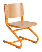 Растущий стул ДЭМИ ДЕРЕВО СУТ.02-01 (регулируется в 3-х плоскостях) (Цвет сиденья и спинки стула:Клен, Цвет каркаса:Оранжевый)