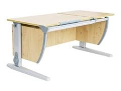 Парта ДЭМИ 120Х55 см с раздельной столешницей (СУТ-17) (Цвет столешницы:Клен, Цвет ножек стола:Серый)
