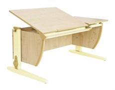 Парта ДЭМИ 120Х55 см с раздельной столешницей (СУТ-17) (Цвет столешницы:Клен, Цвет ножек стола:Бежевый)