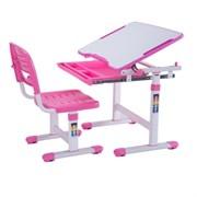 Комплект парта и стульчик Mealux EVO-06 (Белый, Розовый)