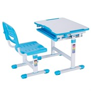 Комплект парта и стульчик Mealux EVO-06 (Белый, Голубой)