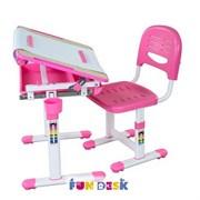 Растущая парта и стул FunDesk Bambino (Розовый)