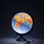 Глобус Земли физический Globen 320 мм с подсветкой Классик (Цвет товара:Черный)